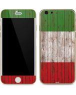 Italian Flag Dark Wood iPhone 6/6s Skin