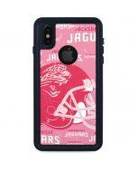 Jacksonville Jaguars - Blast Pink iPhone XS Waterproof Case