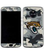 Jacksonville Jaguars Camo Moto X4 Skin