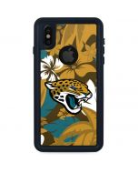 Jacksonville Jaguars Tropical Print iPhone XS Waterproof Case
