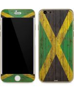 Jamaican Flag Dark Wood iPhone 6/6s Skin