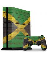 Jamaican Flag Dark Wood PS4 Console and Controller Bundle Skin