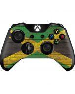 Jamaican Flag Dark Wood Xbox One Controller Skin