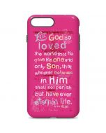 John 3:16 in Pink iPhone 7 Plus Pro Case