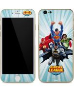 Justice League Team Power Up Blue iPhone 6/6s Skin