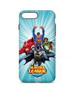 Justice League Team Power Up Blue iPhone 7 Plus Pro Case