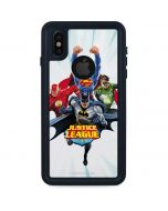 Justice League Team Power Up Blue iPhone X Waterproof Case