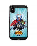 Justice League Team Power Up Blue iPhone XS Max Cargo Case