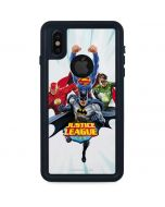 Justice League Team Power Up Blue iPhone XS Waterproof Case