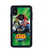 Justice League Team Power Up Green iPhone XS Waterproof Case