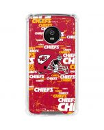 Kansas City Chiefs - Blast Alternate Moto G5 Plus Clear Case