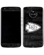 Kansas City Chiefs Black & White Moto X4 Skin