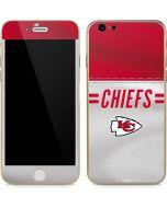 Kansas City Chiefs White Striped iPhone 6/6s Skin