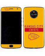 Kansas City Chiefs Yellow Performance Series Moto X4 Skin