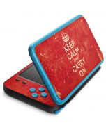 Keep Calm and Carry On Distressed 2DS XL (2017) Skin