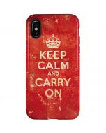 Keep Calm and Carry On Distressed iPhone X Pro Case