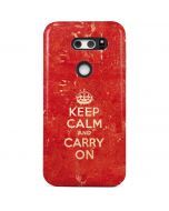 Keep Calm and Carry On Distressed V30 Pro Case