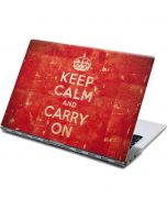 Keep Calm and Carry On Distressed Yoga 910 2-in-1 14in Touch-Screen Skin
