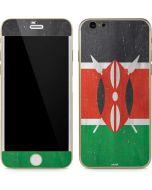 Kenya Flag Distressed iPhone 6/6s Skin