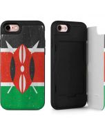 Kenya Flag Distressed iPhone 7 Wallet Case