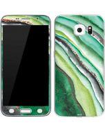 Kiwi Watercolor Geode Galaxy S6 Skin