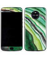 Kiwi Watercolor Geode Moto X4 Skin