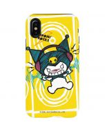 Kuromi Rocker Girl Yellow Stereos iPhone X Pro Case