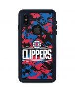 LA Clippers Digi Camo iPhone X Waterproof Case