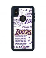 LA Lakers Historic Blast iPhone X Waterproof Case