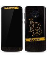 LB Beach Black Moto G6 Skin