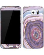 Lilac Watercolor Geode Galaxy S6 Skin