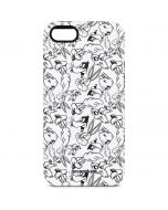 Looney Squad Black and White Grid iPhone 5/5s/SE Pro Case