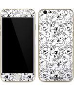 Looney Squad Black and White Grid iPhone 6/6s Skin