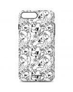 Looney Squad Black and White Grid iPhone 7 Plus Pro Case