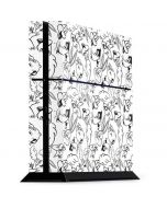 Looney Squad Black and White Grid PS4 Console Skin