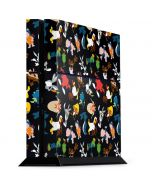 Looney Tunes Identity Pattern PS4 Console Skin