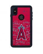 Los Angeles Angels - Cap Logo Blast iPhone XS Waterproof Case
