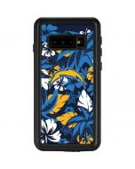 Los Angeles Chargers Tropical Print Galaxy S10 Waterproof Case