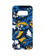 Los Angeles Chargers Tropical Print Galaxy S8 Plus Lite Case