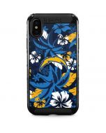 Los Angeles Chargers Tropical Print iPhone XS Max Cargo Case