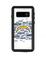 Los Angeles Chargers White Blast Galaxy S10 Waterproof Case