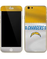 Los Angeles Chargers White Striped iPhone 6/6s Skin