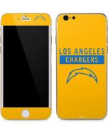 Los Angeles Chargers Yellow Performance Series iPhone 6/6s Skin