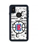 Los Angeles Clippers Blast Logos iPhone XS Waterproof Case