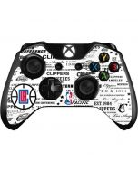 Los Angeles Clippers Blast Logos Xbox One Controller Skin