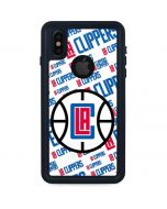 Los Angeles Clippers Blast Text iPhone XS Waterproof Case