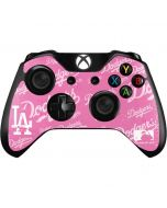 Los Angeles Dodgers - Pink Cap Logo Blast Xbox One Controller Skin