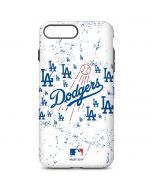 Los Angeles Dodgers - White Primary Logo Blast iPhone 7 Plus Pro Case