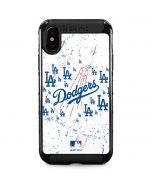 Los Angeles Dodgers - White Primary Logo Blast iPhone XS Max Cargo Case