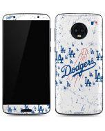 Los Angeles Dodgers - White Primary Logo Blast Moto G6 Skin